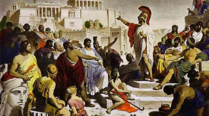 Τhe persuasive means of a rhetorical speech